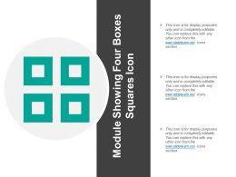 Module Showing Four Boxes Squares Icon