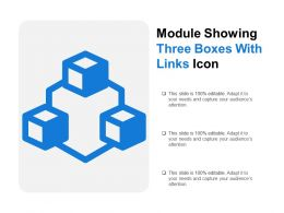 Module Showing Three Boxes With Links Icon