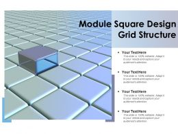 Module Square Design Grid Structure