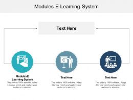 Modules E Learning System Ppt Powerpoint Presentation Styles Samples Cpb