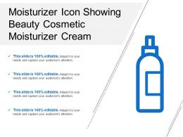 Moisturizer Icon Showing Beauty Cosmetic Moisturizer Cream