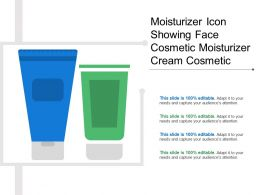 Moisturizer Icon Showing Face Cosmetic Moisturizer Cream Cosmetic