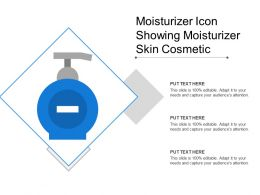 Moisturizer Icon Showing Moisturizer Skin Cosmetic