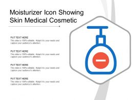 Moisturizer Icon Showing Skin Medical Cosmetic