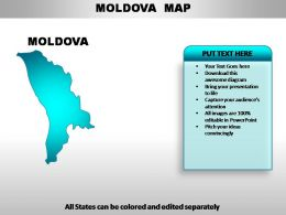 Moldova Country Powerpoint Maps