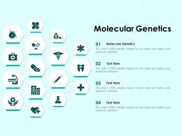 Molecular Genetics Ppt Powerpoint Presentation Pictures Grid