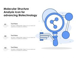 Molecular Structure Analysis Icon For Advancing Biotechnology