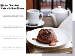 Molten Chocolate Cake With Book Theme
