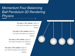 Momentum Four Balancing Ball Pendulum 3d Rendering Physics