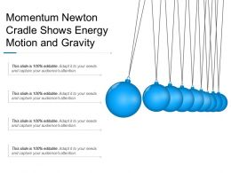 Momentum Newton Cradle Shows Energy Motion And Gravity