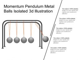 Momentum Pendulum Metal Balls Isolated 3d Illustration