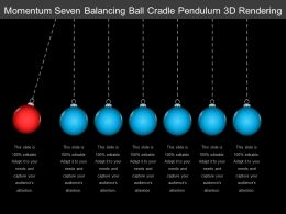 Momentum Seven Balancing Ball Cradle Pendulum 3d Rendering