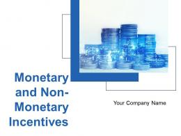 Monetary And Non Monetary Incentives Powerpoint Presentation Slides