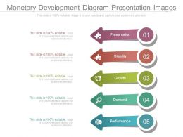 Monetary Development Diagram Presentation Images