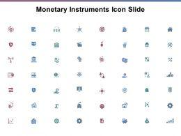 Monetary Instruments Icon Slide Ppt Powerpoint Presentation File Graphics Design