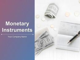 Monetary Instruments Powerpoint Presentation Slides