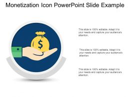 Monetization Icon Powerpoint Slide Example