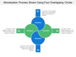Monetization Process Shown Using Four Overlapping Circles
