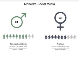 Monetize Social Media Ppt Powerpoint Presentation Model Elements Cpb