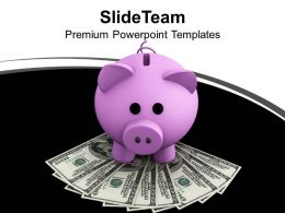 Money And Piggy Bank Investment Concept PowerPoint Templates PPT Themes And Graphics 0213