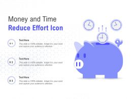 Money And Time Reduce Effort Icon