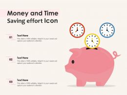 Money And Time Saving Effort Icon