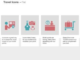 money_atm_camera_ring_help_desk_cart_suitcase_holiday_planning_ppt_icons_graphics_Slide01