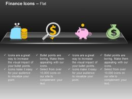 Money Bag Dollar Piggy Pouch Money Saving Ppt Icons Graphics