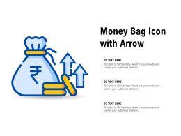 Money Bag Icon With Arrow