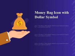 Money Bag Icon With Dollar Symbol