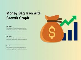 Money Bag Icon With Growth Graph