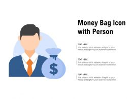 Money Bag Icon With Person