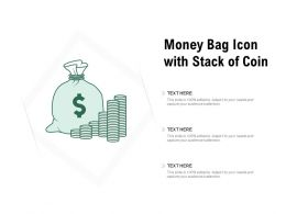 Money Bag Icon With Stack Of Coin