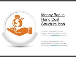 Money Bag In Hand Cost Structure Icon