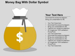 Money Bag With Dollar Symbol Flat Powerpoint Design