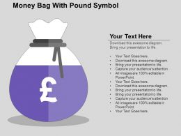 Money Bag With Pound Symbol Flat Powerpoint Design