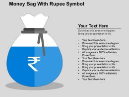 Money Bag With Rupee Symbol Flat Powerpoint Design