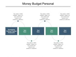 Money Budget Personal Ppt Powerpoint Presentation Gallery Slide Download Cpb