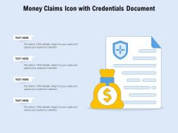 Money Claims Icon With Credentials Document