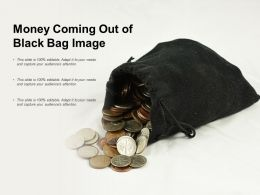 Money Coming Out Of Black Bag Image