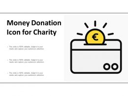 Money Donation Icon For Charity