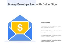 Money Envelope Icon With Dollar Sign