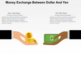 Money Exchange Between Dollar And Yen Flat Powerpoint Design