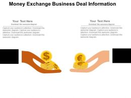 Money Exchange Business Deal Information Flat Powerpoint Design
