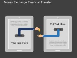 Money Exchange Financial Transfer Flat Powerpoint Desgin