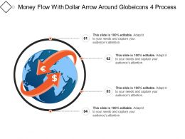 Money Flow With Dollar Arrow Around Globeicons 4 Process