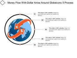 Money Flow With Dollar Arrow Around Globeicons 5 Process