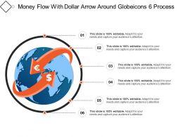 Money Flow With Dollar Arrow Around Globeicons 6 Process