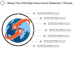 Money Flow With Dollar Arrow Around Globeicons 7 Process