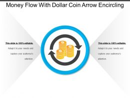Money Flow With Dollar Coin Arrow Encircling